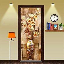 3D Türaufkleber Wandbild Vase 3D Tür Aufkleber