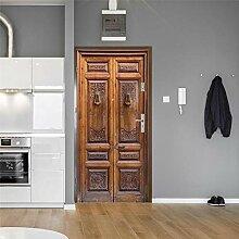 3D Türaufkleber Wandbild Vintage Tür Tür
