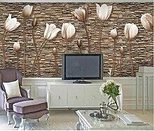3D Tulpe Wandgemälde für TV Wände / Sofa Hintergrund Wand Dekor Home Decor Wallpaper TP01 , 150x105 cm