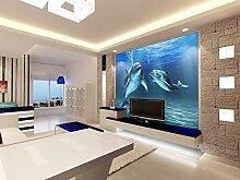3D Unterwasserwelt Delphin Tapete 3D Foto Wandbild