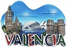 3D Valencia Spanien Kühlschrank