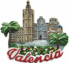 3D Valencia Spanien Kühlschrank Magnet Travel