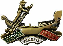 3D Venedig Italien Bootfahren Kühlschrankmagnet