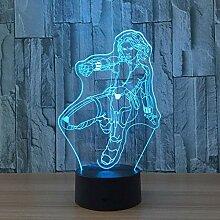 3D Visual Illusion Black Widow Lampe Transparent