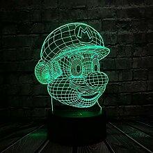 3D Visuelle Illusion Lampe Niedlichen