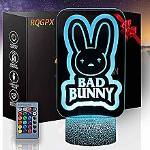 3D Visuelle Lampe für Bad Bunny 16 Farben