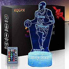 3D Visuelle Lampe Kobe Basketball Liebhaber ein 3D