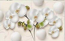 3D vlies fototapete schöne schmetterling orchidee