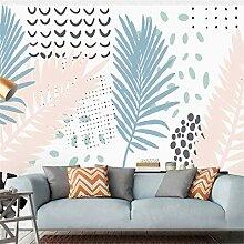 3D Vliesstoff Wallpaper Handgemalte Blätter Der