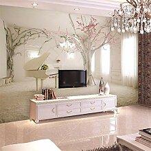 3D Vliesstoff Wallpaper Kirschblüte 3D Nahtlose