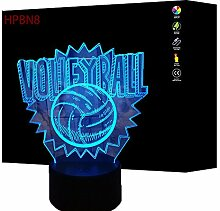 3D Volleyball Lampe USB Power 7 Farben Amazing