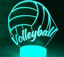 3d Volleyball nacht licht Optische Illusions Lampe
