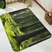3D Wälder Grün Bäume 203 Rutschfest Teppich