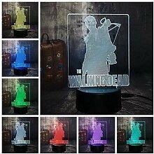 3D Walking Dead Night Licht-3D Illusion Lampe, LED