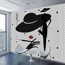 3d wallpaper abstrakt fototapete schwarz weiß
