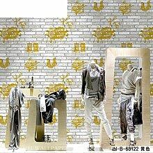 3d Wallpaper/Backstein Muster weiße Mauer/bar Bekleidung Shop-Tapete/Graffiti Tapete Dekoration-C