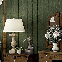 3D Wallpaper dunkelgrün mit Holzmaserung Wohnzimmer Hintergrund Schlafzimmer boutique Mediterranes Restauran