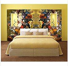3D Wallpaper Fresco Silk Cloth Collage Blume