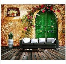 3D Wallpaper Fresco Silk Cloth Collage Blumen Haus
