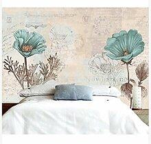 3D Wallpaper Fresco Silk Cloth Collage Blumen