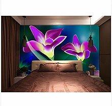 3D Wallpaper Fresco Silk Cloth Collage Blumenkunst