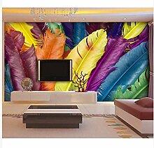 3D Wallpaper Fresco Silk Cloth Collage Bunte