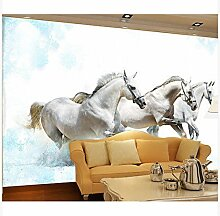3D Wallpaper Fresco Silk Cloth Collage Pferd