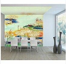 3D Wallpaper Fresco Silk Cloth Collage Pflanze