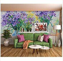 3D Wallpaper Fresco Silk Cloth Collage Schöne