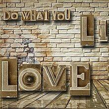 3D Wallpaper für Home Wandverkleidung Leinwand Material Dreidimensionale Buchstaben BricksXL XXL XXXL , xxl