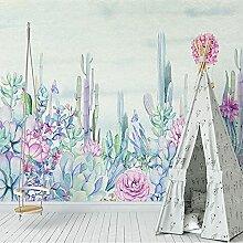3D Wallpaper Handgemalte Garten Pflanze Blume