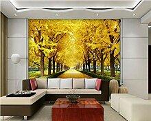3d wallpaper herbst ahorn gold baum 3d tv
