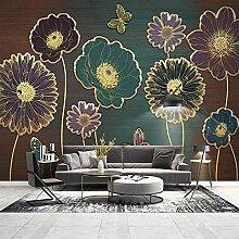 3D Wallpaper Moderne Licht Luxus Pflanze Blume