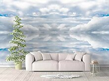 3D Wallpaper - One-Line-Himmel, blauer Himmel,