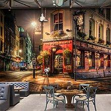 3D Wallpaper Vliesstoff Wandbild Bar Terrasse