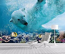 3D Wallpaper Wallpaper Wandbild Tapete Eisbär