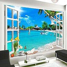 3D Wallpaper Wandbild 3D Fenster Seascape Space