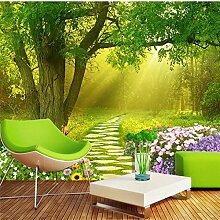 3D Wallpaper Wandbild Benutzerdefinierte Tapete Blumen Schmetterling Wald Frische Tv Hintergrund Wand Tapeten Wohnkultur Tapety 200Cmx150Cm