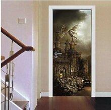 3D Wandaufkleberschloss Tür Aufkleber Für