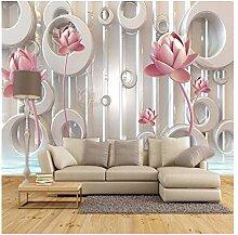 3D Wandbild Blume Große Wandgemälde Tapete