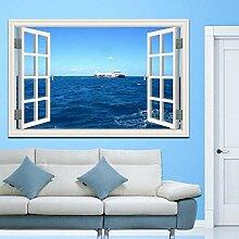 3D Wandbild Fototapete Fenster Blauer Himmel Mit