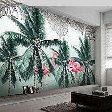 3D Wandbild Handgemalte Pflanze Bananenblatt