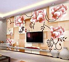 3D-Wandbild mit Blumenmotiv, modernes Design, für