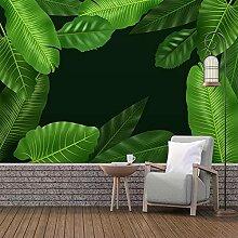 3D Wandbild Pflanze Grünes Blatt Wohnzimmer