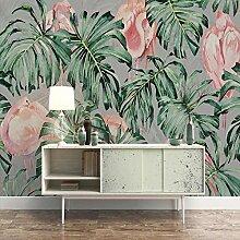 3D Wandbild Südostasiatischen Stil Pflanze