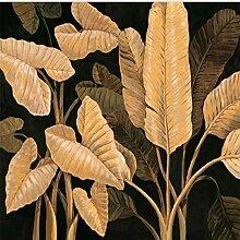 3D Wandbild Südostasien Stil Bananenblatt