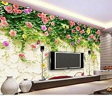 3D Wandbild Tapete Blume Hintergrund Dekor Moderne