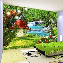 3D Wandbild Tapete Für Kinderzimmer Cartoon