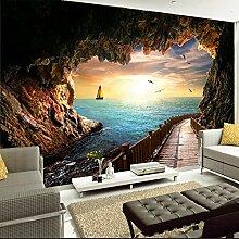 3D-Wandbild Tapete Für Wand Sonnenuntergang