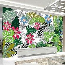3D Wandbild Tapete Moderne Regenwald Pflanze Blatt